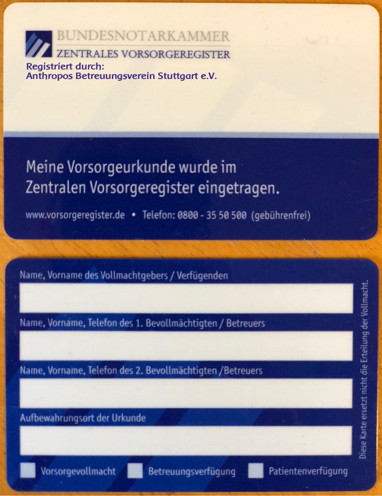 Bundesnotarkammer, Zentrales Vorsorgeregister